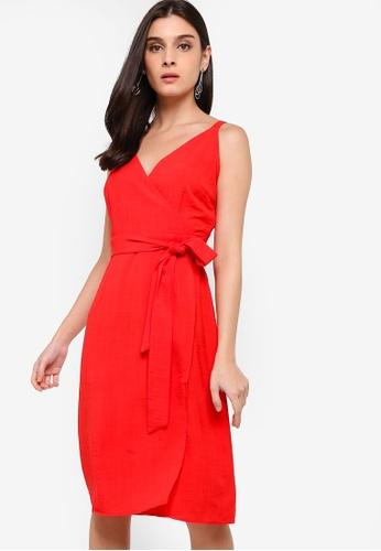 ZALORA red Overlap Dress 1A5F7AA3C78E48GS_1