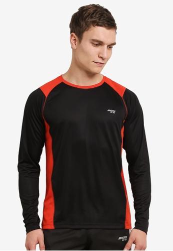 2GO black GO Dry Round Neck Long Sleeve Performance T-Shirt 2G729AA0S5ZQMY_1