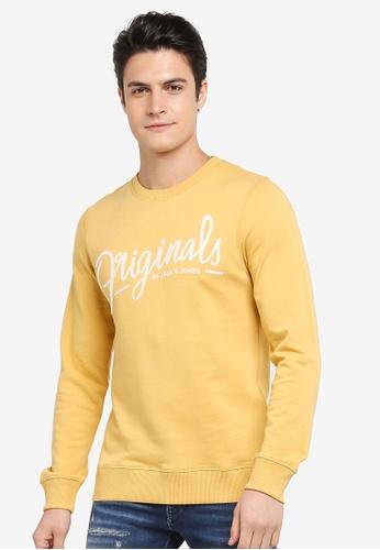 Jack & Jones orange Script Crew Neck Sweatshirt 85BE4AA8D88515GS_1