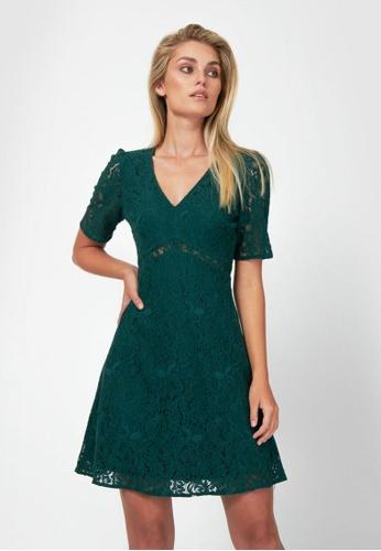 FORCAST green FORCAST Aviana Lace Dress 9DBEFAA7073784GS_1