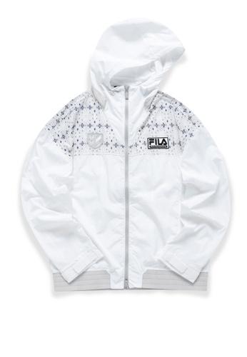 FILA white FILA x White Mountaineering Logo Ethnic Print Hooded Jacket 28375AA83F08F4GS_1