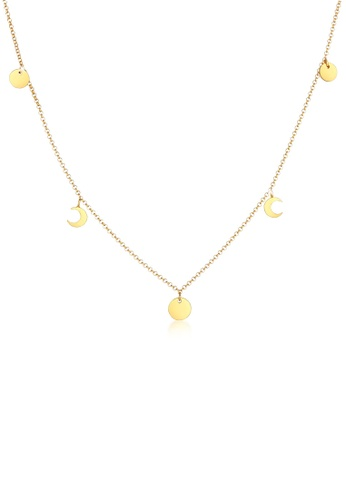 ELLI GERMANY gold Half Moon Plates Necklace 6F9F5ACC6D5F86GS_1