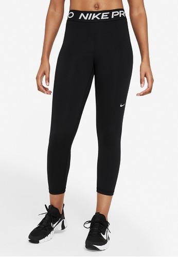 Nike black Pro 365 Cropped Tights E5978AA30993EFGS_1