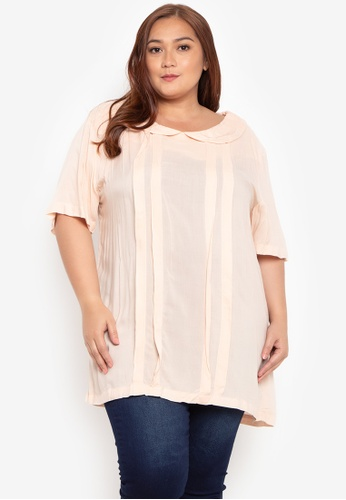 Hint pink Plus Size Woven Blouse HI373AA07NZSPH_1