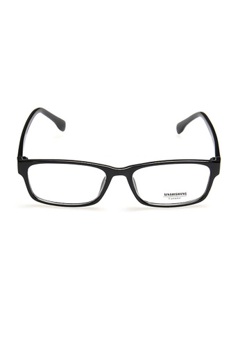 Elitrend black Plastic Frame Glasses with Glossy Black Arm 102DDGL7A901BDGS_1