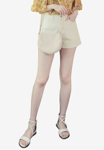 Eyescream white Casual High Waist Denim Shorts 81864AA9F5A550GS_1