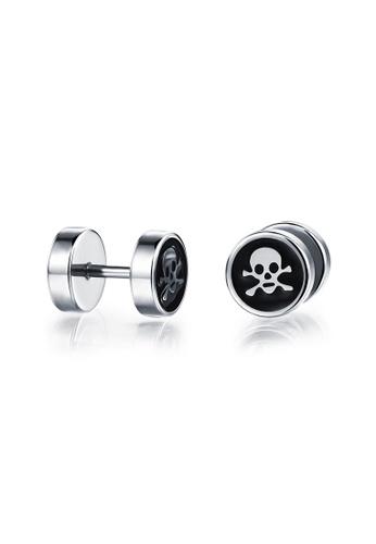 Sopistikada silver Skull Logo Earrings SO776AC0J8OCPH_1
