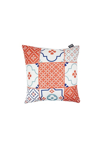 HOUZE pink HOUZE - LIV Peranakan Cushion Cover - Pink A 79A12HLE669ACFGS_1