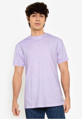 Mennace purple On The Run Tab Regular T-shirt 5E617AA2F4F0ADGS_1