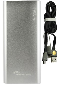 ​MSM.HK DUCATI iPower 12000mAh Power Bank With FREE Bavin 2-in-1 USB Data Cable with Lightning