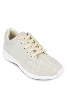 Textured Panel Lace Up Sneakers