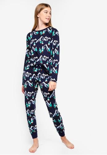Chelsea Peers navy Snowy Mountain Pyjama Set D1ED7AAF595FF7GS_1