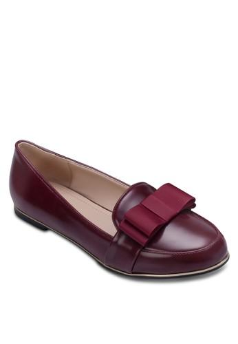 蝴蝶結zalora 順豐仿皮樂福鞋, 女鞋, 鞋