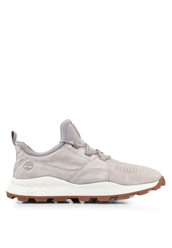 Timberland grey and brown Brooklyn Oxford Sneakers C24A8SH19E893EGS_1