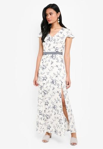 Something Borrowed white Neckline Detail Maxi Dress 9D7C4AA17D2FC2GS_1