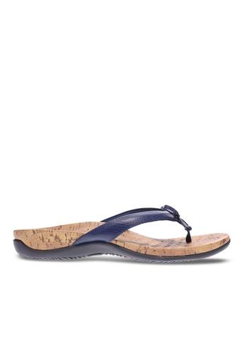 Vionic blue Cassie Toe Post Sandal 1F066SH6D352F7GS_1