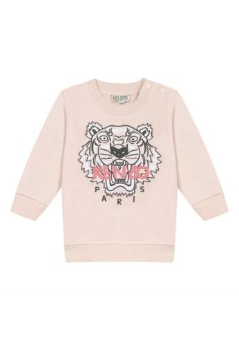 KENZO KIDS pink KENZO TIGER SWEATSHIRT FOR BABY GIRLS. 4D153KAE7EF20DGS_1