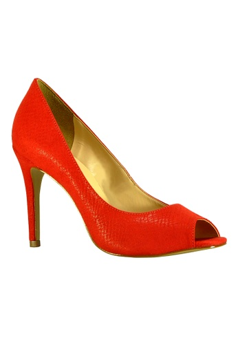 Covet red Seculo XXX Camila Peeptoe Heels CO331SH91GFSPH_1