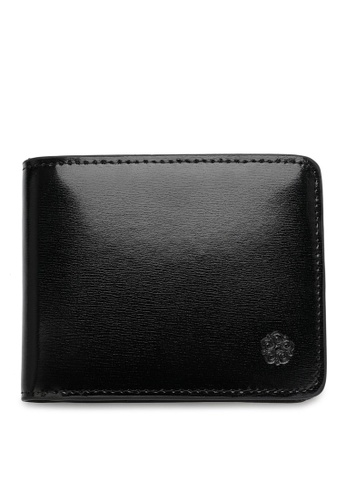 Wild Channel black Faux Leather Short Wallet A7A2DACDF6A48AGS_1