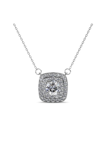Her Jewellery silver Swarovski® Crystals - Simone Pendant (18K White Gold Plated) Her Jewellery HE581AC0RAKHMY_1