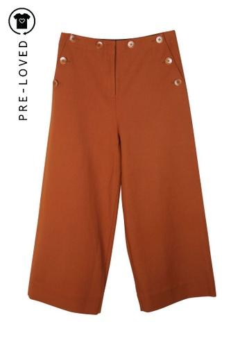 Tibi brown Pre-Loved tibi Anson Wide Leg Sailor Pants A42A4AA95CCC40GS_1