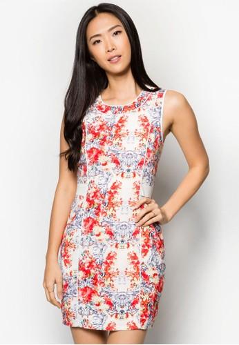 印花無袖連zalora taiwan 時尚購物網鞋子身裙, 服飾, 洋裝