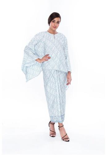 Amar Amran blue Kaftan Batik Parang D3D3DAA2DF886BGS_1