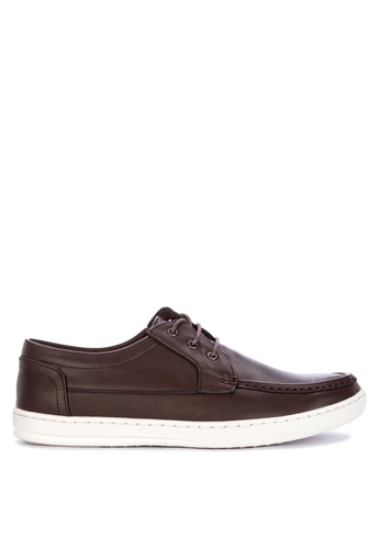 H2Ocean brown Teylo Men's Boat Shoes Lace up 24D46SH61171DAGS_1