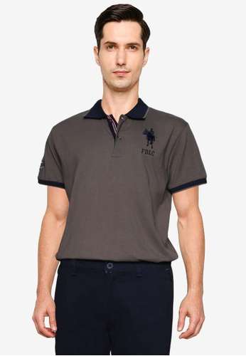 Fidelio green Horse Riding Contrasted Sleeve Polo Shirt DB556AAC8CBA1BGS_1