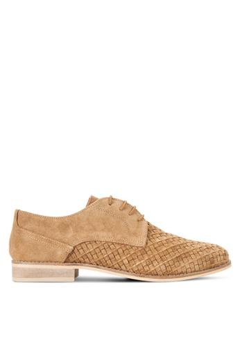 Topman brown Tan Suede Smart Shoes TO413SH14FTPMY_1