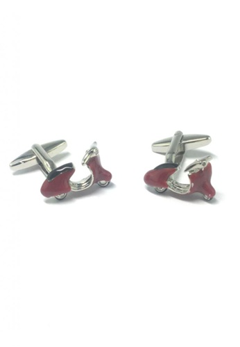 Splice Cufflinks red and silver Red Vintage Scooter Cufflinks  SP744AC57EMSSG_1