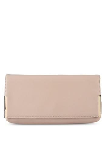 Dorothy Perkins pink Nude Side Metal Bar Clutch 7559BACD749AE5GS_1