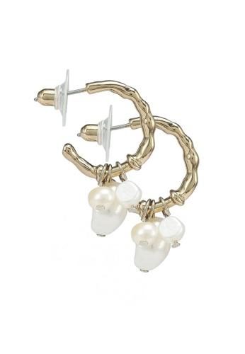 Forever New white Faith Freshwater Pearl Hoop Earrings 4C717AC76C0235GS_1
