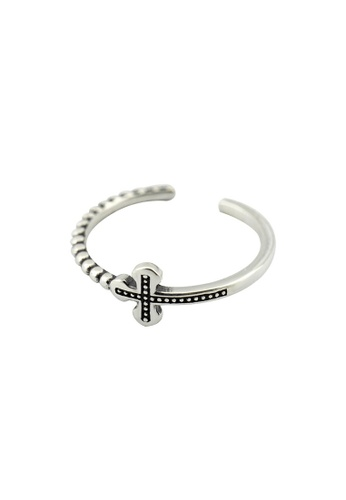 A-Excellence silver Premium S925 Sliver Geometric Ring C54BFAC10F18BEGS_1