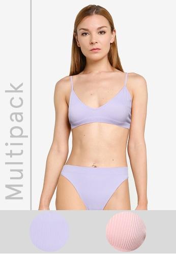 Cotton On Body multi Seamfree Triangle Bralettes 2Pk 0F49AUSB790EEFGS_1