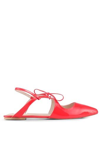 OCEEDEE 紅色 綁帶穆勒鞋 BEC09SH210B2B3GS_1