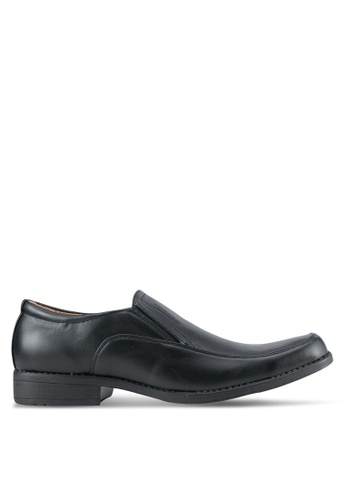Rocklander black Slip On Dress Shoes RO978SH0SMMBMY_1