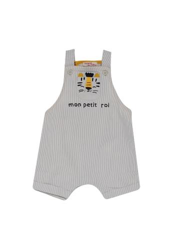 DU PAREIL AU MÊME (DPAM) white Baby Tiger Motif Overalls 517D3KA91FEDAFGS_1
