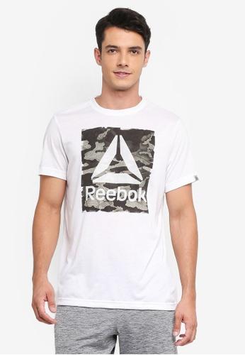 Reebok 白色 Camo Delta Speedwick Crew RE691AA0SVZJMY_1