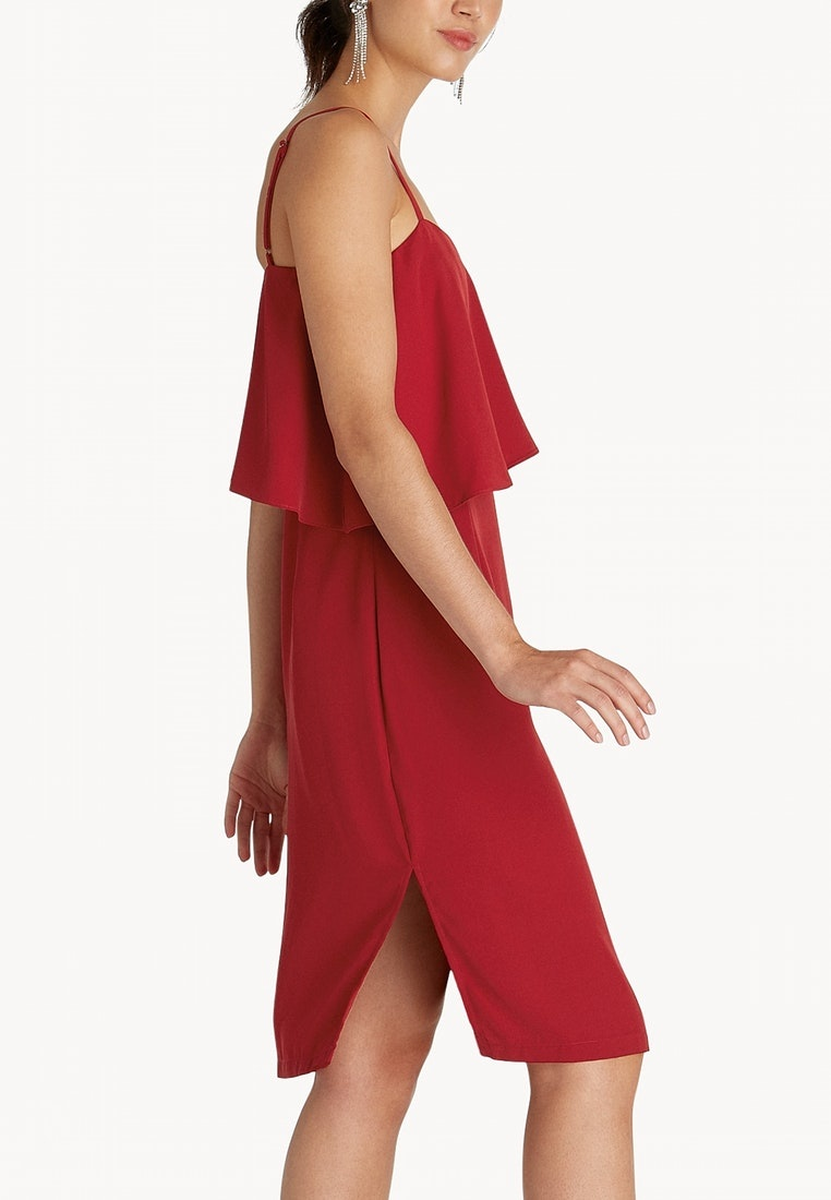 Mini Pomelo Dress Layered Red Red Slit UARZwH