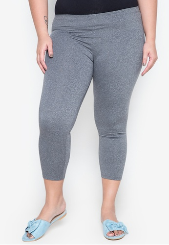 Lulu grey Plus Size Long Leggings LU439AA0IWDSPH_1