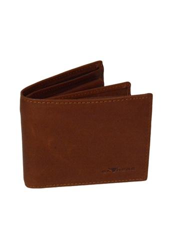 EXTREME brown Extreme Genuine Leather Mid Flap Wallet RFID Protected Fengshui Vintage Brown AC213ACA847401GS_1