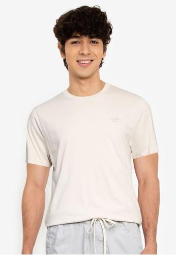 Hollister beige Crew Solid T-Shirt CEA48AAC751602GS_1