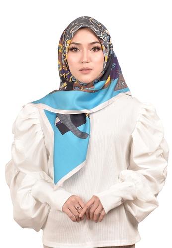 FATIMÉ multi Twill Silk Kimono (Blue) 52169AAE12D120GS_1