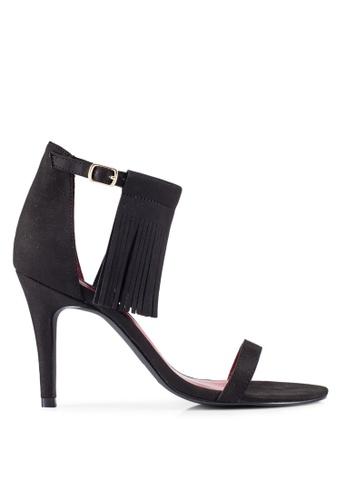 ZALORA 黑色 Tassel 流蘇 高跟鞋 FF281ZZCD72DDAGS_1