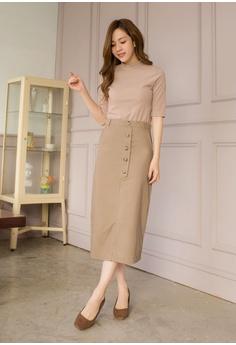 9c29803a408 54% OFF Tokichoi Button Front Midi Pencil Skirt S  49.90 NOW S  22.90 Sizes  S M L