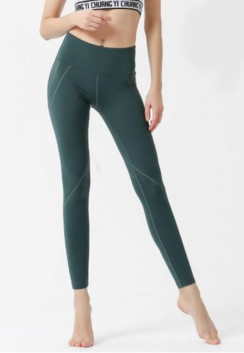 B-Code green ZYG3046-Lady Quick Drying Running Fitness Yoga Sports Leggings -Green C0828AAB88F564GS_1