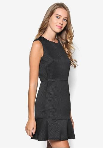 esprit holdings暗紋荷葉擺無袖連身裙, 服飾, 洋裝