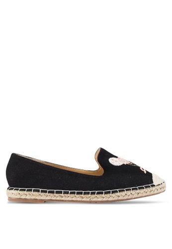 Berrybenka 黑色 刺繡帆布便鞋 58E81SHE251FF6GS_1