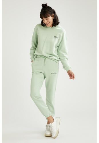 DeFacto green High Waist Cotton Jogger 4513FAA646C6A0GS_1
